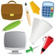 Office object set — Stock Vector #20614501