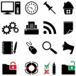 Computer icon set (vector, CMYK) - Image vectorielle