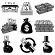 Money icon set - Vettoriali Stock