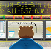 Bear market — Stock Vector