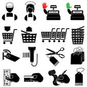 Supermarket icon set — Stockvector