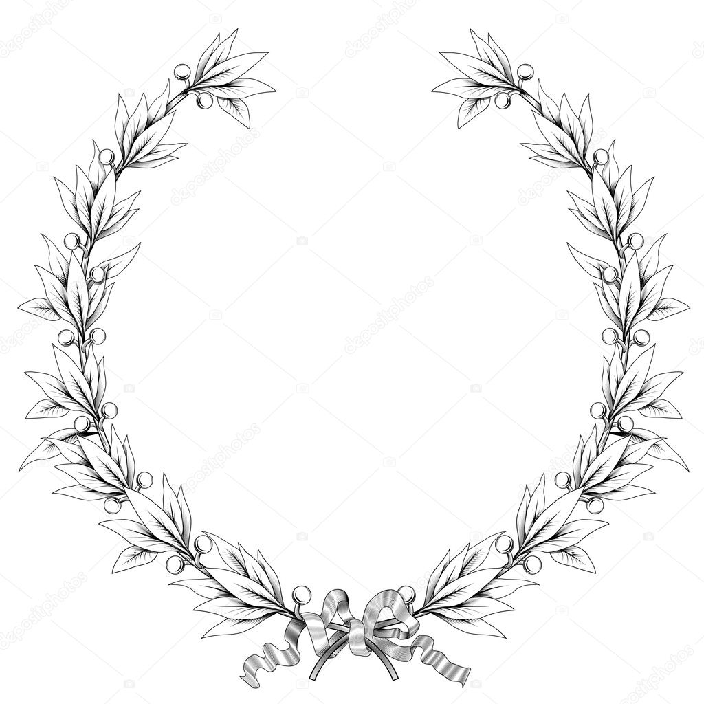 laurel leaf crown template - free laurel leaf coloring pages