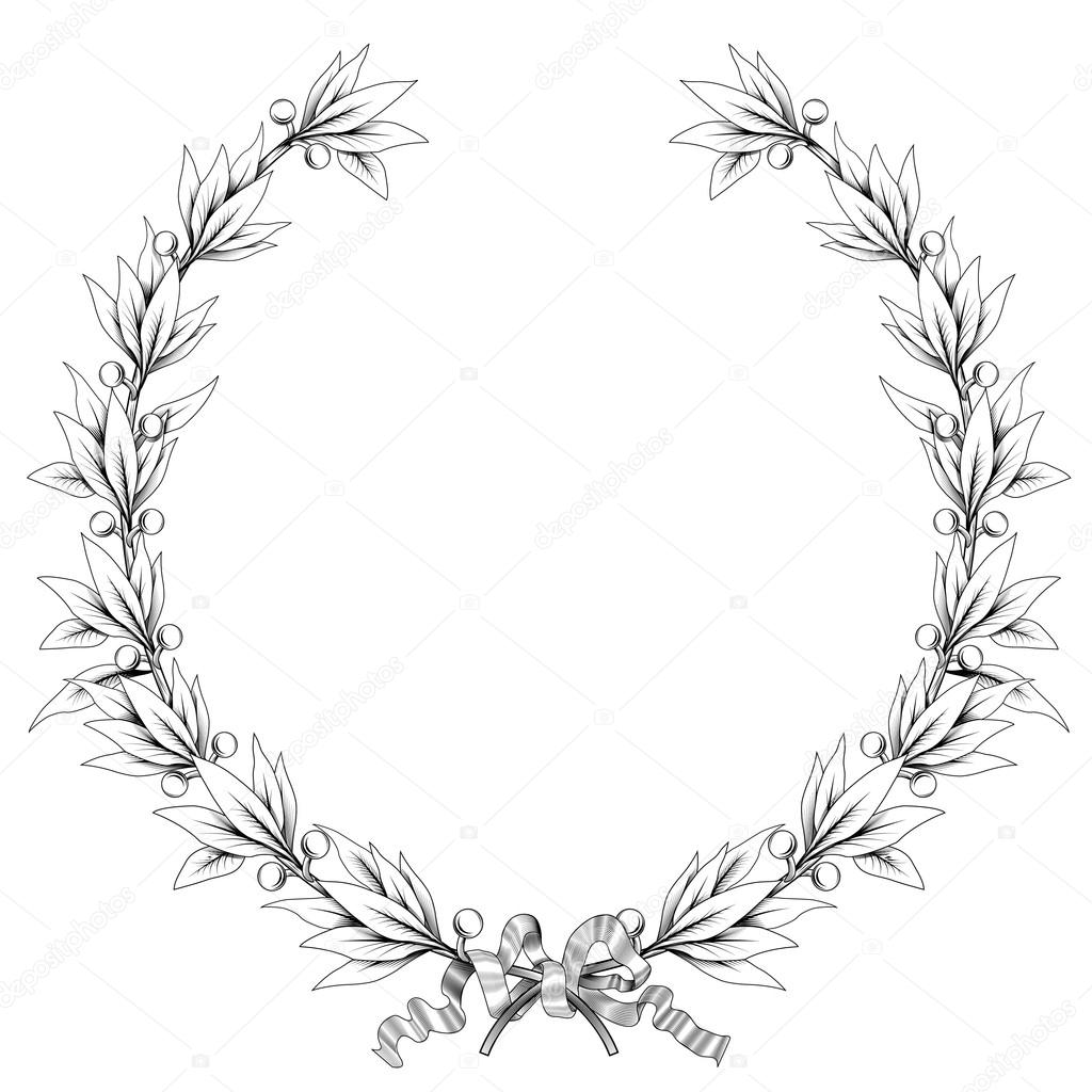 Free laurel leaf coloring pages for Laurel leaf crown template