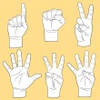 Royalty-Free Stock Vektorgrafik: Human hands set
