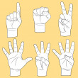 Royalty-Free Stock Vectorielle: Human hands set