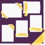 Vector page ribbon corners set(CMYK) — Stock Vector