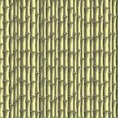 Bamboo seamless wallpaper (vector, CMYK) — Stock Vector