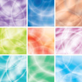 Colorful background set — Stock Vector