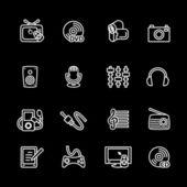 Multimedia computer icon set — Stock Vector