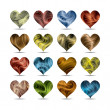Vector  valentine's day heart symbol set (eps10, CMYK colors) - Stock Vector