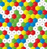 Plastic mosaic seamless background — Stock Vector