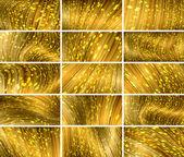 Vector abstract bokeh background set (eps10, CMYK colors) — Stock Vector