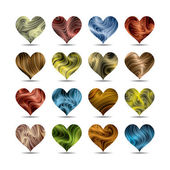 Vector valentine's day heart symbol set (eps10, CMYK colors) — Stock Vector