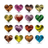 Vector valentine's day heart symbol set (eps10, CMYK colors) — Vector de stock