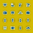 Vector hotel icon set — Stock Vector