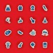 Vector birthday icon set — Stockvector