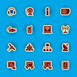 Vector computer and communication icon set — Vettoriali Stock