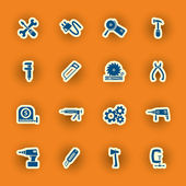 Vector homebuilding and construction icons set — Stock Vector