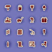Vector homebuilding and construction icons set — Stok Vektör