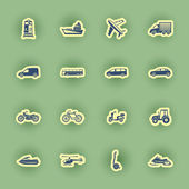 Vector transport icon set — Stock Vector