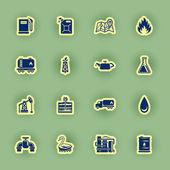 Vector oil icon set — Stock Vector