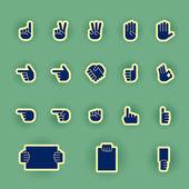 Vector hands icon set — Stock Vector