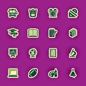 Vector school and education icon set — Stock Vector