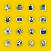 Vector school and education icon set — Stockvektor