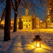 Stock Photo: Lantern in park at night