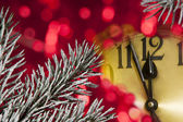 New year clock — Foto Stock