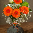 Bouquet in vase - Foto Stock