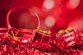 Czerwone tło boże narodzenie — Zdjęcie stockowe