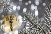New year clock — Stock fotografie