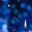 christmas candle&quot — Stock Photo #14827035