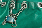 Padlock with chain — Stock Photo