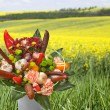 Bouquet with sausages — Stock Photo