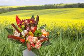 Bouquet avec des saucisses — Photo