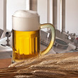 Beer on tap — Stock Photo