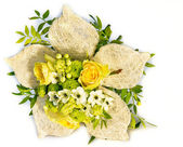 Wedding bouquet on the white background — Stock Photo