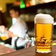 Beer glass in restaurant — Stock Photo #30730301