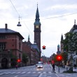 City hall in Copenhagen at night — Stock Photo