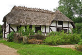 Farm cottage in Open Air Museum in Copenhagen — Stock Photo