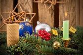 クリスマスキャンドル — ストック写真