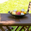 Easter eggs on the table — Stock Photo