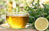 Tea with peppermint — Stock Photo