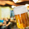 Stock Photo: Beer glass in pub