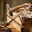 Foto Stock: Old tools