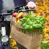 Shopping bag with bicycle — Stock Photo