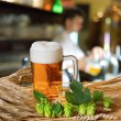Beer Glass And Hops — Stock Photo #40296283