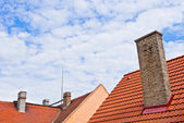 Roof with chimneys — Stock Photo
